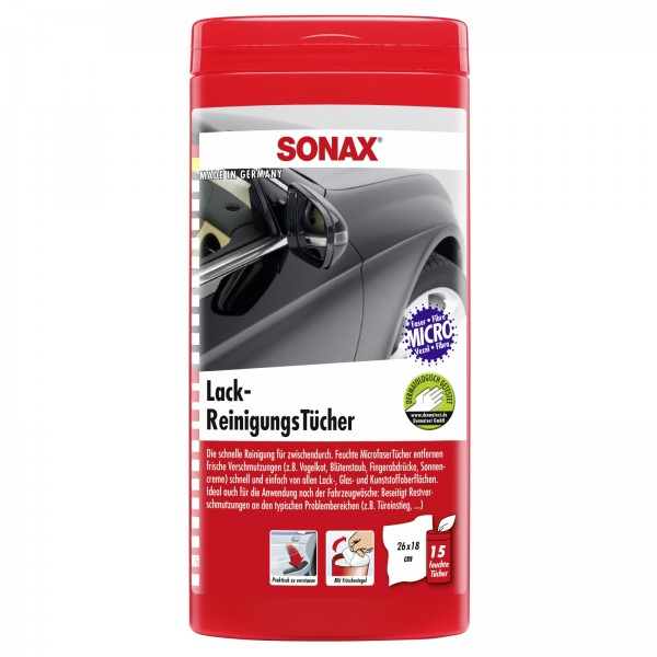 SONAX 04124000  LackReinigungsTuecher Bo #18473
